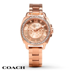 Coach Coach Boyfriend 14501701 Signature Rose Gold Stainless Glitz Watch