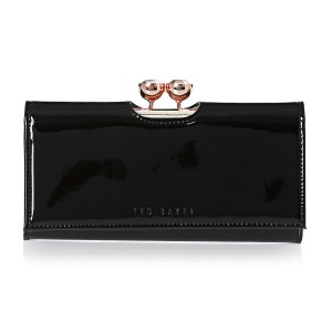 Ted Baker NEW!!! TAGS BLACK PATENT LEATHER WALLET BAG NWT