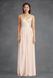Donna Morgan Rose Quartz Chiffon & Sequins Coco Formal Bridesmaid/Mob Dress Size 0 (XS)