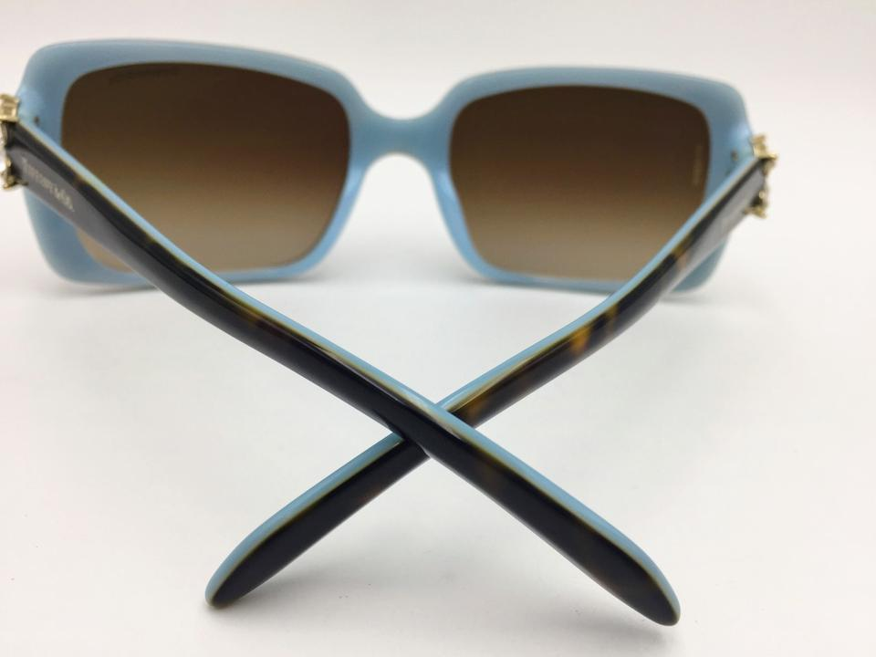783081139cc9 Crystal Flower Square Brown Gradient Tiffany   Co. Sunglasses TF4047 Image.  12345678