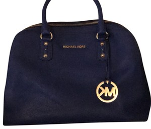 Michael Kors Satchel in blue and gold
