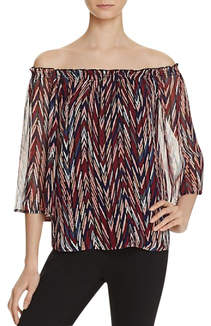 Item - Multicolor XS Off-the-shoulder Silk Bnwt Blouse Size 2 (XS)