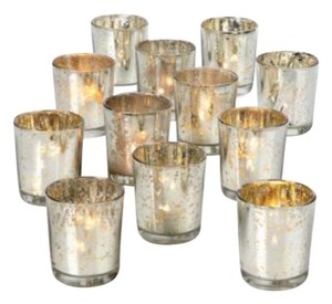 Z Gallerie Mercury Glass -silver and Gold Votive/Candle