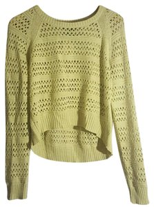 Michael Stars Knit Hi Lo Crop Longsleeve Sweater