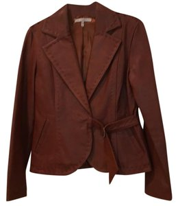 In Suede brown Leather Jacket