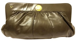Valentino Refurbished Leather Large Black Clutch