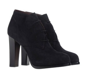 Bruno Magli Suede Leather Ankle Black Boots
