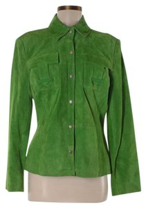 Terry Lewis Classic Luxuries Suede Leather Green Jacket