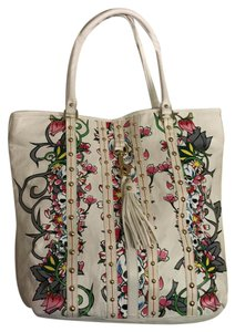 Ed Hardy Tote in White