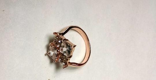 Other 14K Gold Filled Cubic Zirconia Crystal Cocktail Ring Size 7.5 Clear J756