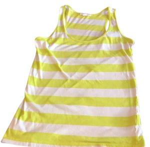 Forever 21 Top lime green and white