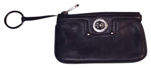 Marc Jacobs black leather coin purse key chain