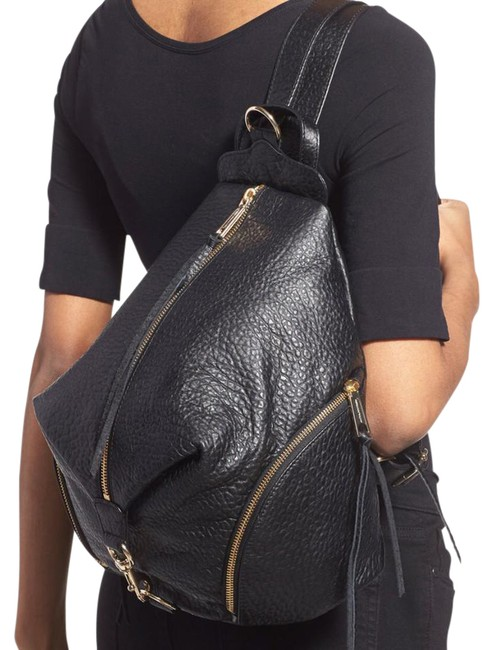 Item - Julian Black and Gold Leather Backpack