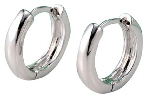 Other New 14K White Gold Filled Small Hoop Earrings J3341