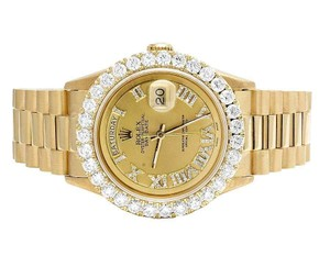 Rolex Mens Presidential 18K Yellow Gold Day-Date 36MM Diamond Watch 5.5 Ct