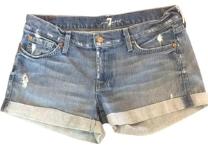 7 For All Mankind Cuffed Shorts Denim