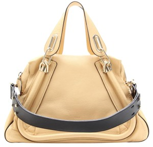 Chlo Lambskin Studded Handbag Spring Satchel in Stem GInger