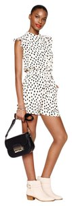Kate Spade Flirty Summer Shorts Crepe Polka Dot Dress