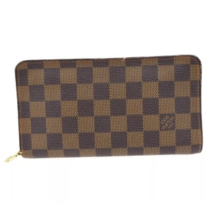 Louis Vuitton Damier Ebene Zippy Zipper Around