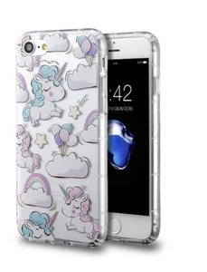 Other IPhone 7 clear pastel unicorns case NWT