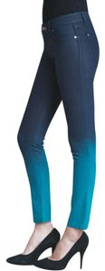 DL1961 Waxed Ombre Skinny Leggings Stretchy Skinny Jeans-Coated