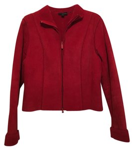 Express Suede Red Leather Jacket
