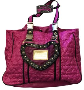 Betsey Johnson Tote in Fuchsia