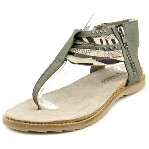 Matisse Festival Strappy Cow Hair Leather Gray Sandals