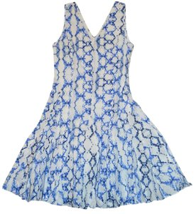 Rebecca Taylor short dress White/Blue on Tradesy