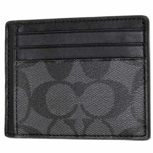Coach NEW COACH men's two side ID Credit card business case holder Black