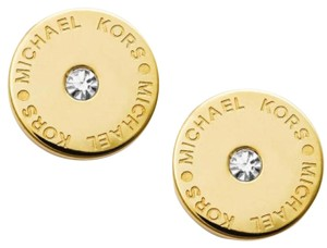 Michael Kors Michael Kors Gold-Tone MK Logo Stud Earrings MKJ4668710