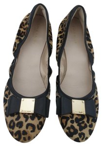Cole Haan Animal Print Bow Pony Hair Black, brown, tan Flats