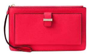 Kate Spade Leather Ceder Street Lacy Rooster red Clutch