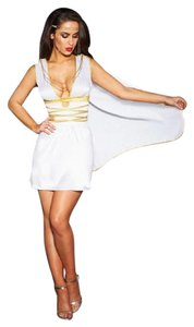 Frederick's of Hollywood GRECIAN GODDESS COSTUME Cosplay Lingerie PRINCESS Dress NWT XS/S SEXY