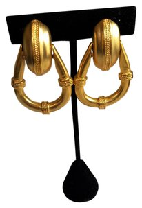 Anne Klein Vintage Anne Klein Clip-on Doorknocker Earrings