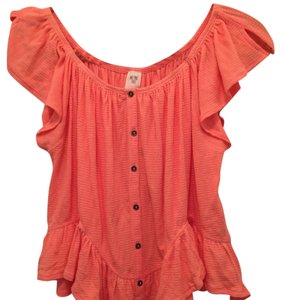 Free People Top soft tangerine