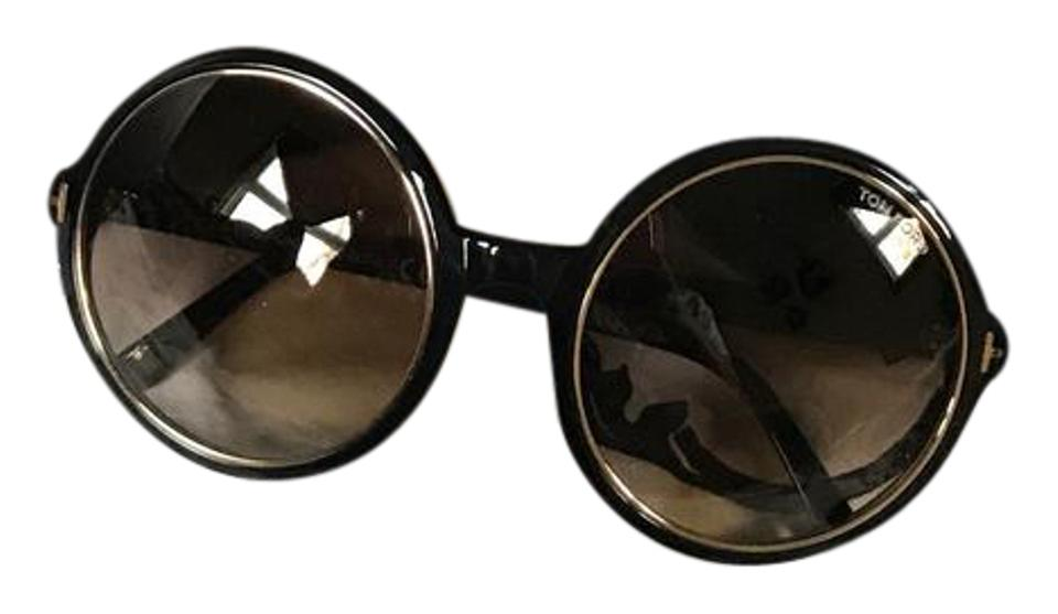 4d214d9e3b Tom Ford Black with Gold Trims Carrie Tf268 01f Sunglasses - Tradesy