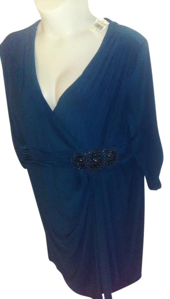 Alex Evenings Royal Blue Nordstrom Rack Wrap Mid Length Night Out