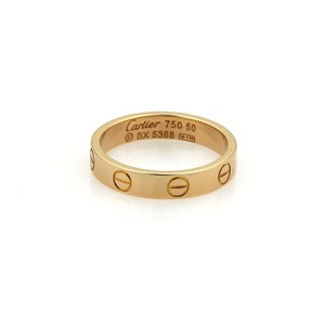 Cartier Mini Love 18k Rose Gold 3.5mm Band Ring Size EU 50-US 5.25