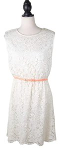 Vince Camuto Lace Sheath Belted Dress