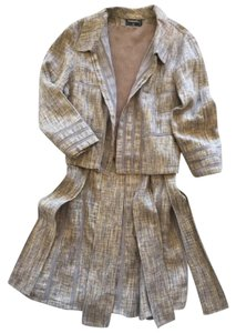 Chanel SALE! Linen Suit. Tank Top, Skirt, Jacket. 3 CC Logos. Sz 40. 3 Piece