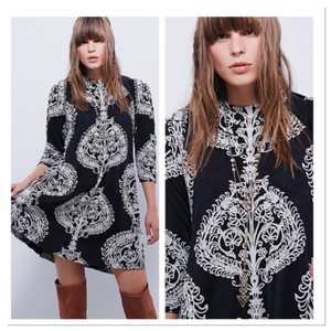 Free People short dress black & white on Tradesy