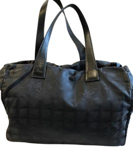 Chanel Jacquard Leather Tote in Black