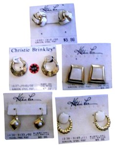 Kathie Lee Collection 80's lot of 5 Kathy Lee & Cristie Brinkley earrings perfect for day wear