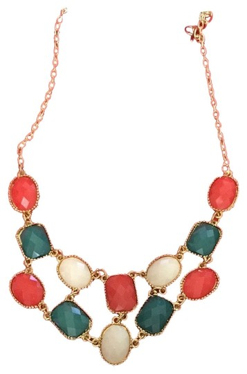 Preload https://item2.tradesy.com/images/orange-green-white-spring-necklace-2128131-0-0.jpg?width=440&height=440