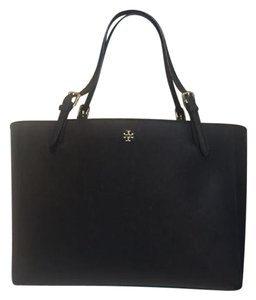 Tory Burch Black York Small Buckle York Tote in Navy