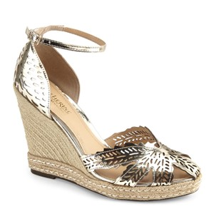 Catherine Malandrino gold Wedges
