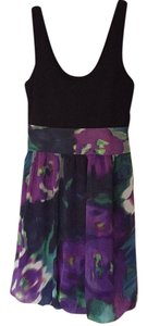 Express short dress Black, Green, Turquoise and Purple on Tradesy