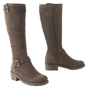 La Canadienne Anthropologie Water-repellant Moto Biker Riding Stone Oiled Suede Boots