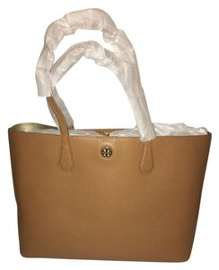 Tory Burch Tote in Bark/ light gold